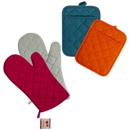 48 Units of Oven Mitt 12in & Potholder 7x9in - Store