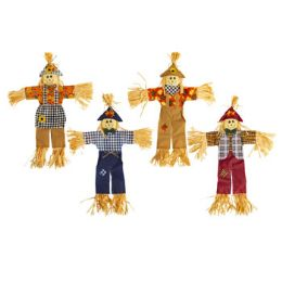24 Units of Scarecrow Harvest Hanging Decor - Garden Decor