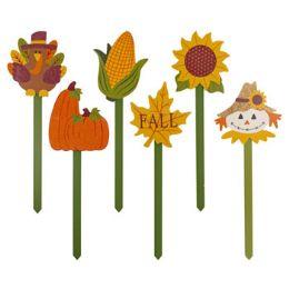 48 Units of Yard Or Planter Stake Harvest - Garden Decor