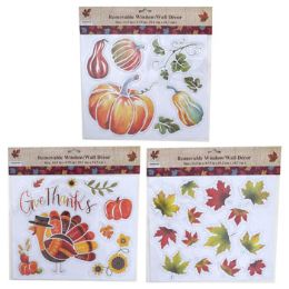 24 Units of Window Decor Harvest Embossed - Stickers