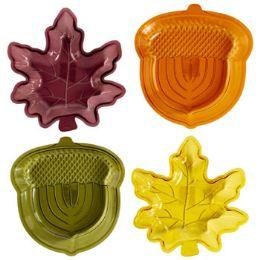 48 Units of Leaf/acorn Shape Dish Transparnt - Halloween & Thanksgiving