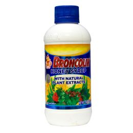 6 Units of Broncolin Cough And Cold Regular 11.4 Oz Honey Syrup - Pain and Allergy Relief