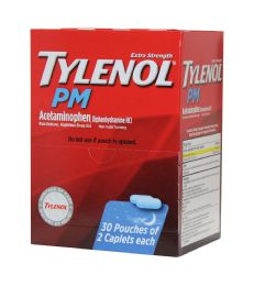 30 Units of Tylenol Pm 2pk Box 30 ct - Pain and Allergy Relief