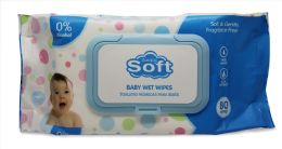 24 Units of Baby Wipe 80 Ct W/blue Lids - Baby Beauty & Care Items