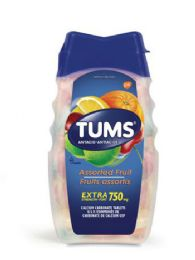 12 Units of Tums 8 Ct Chewable Tablet Extra Assorted Fruit - Pain and Allergy Relief