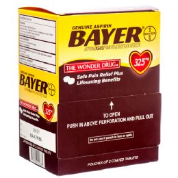 30 Units of Bayer 2pk Box 30 ct - Pain and Allergy Relief