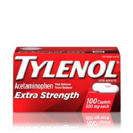 12 Units of Tylenol EX-Strength 24 Ct Cap - Pain and Allergy Relief