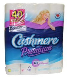 Cashmere 2ply 250 Sheet Bath Tissue 40 Rolls - Tissues