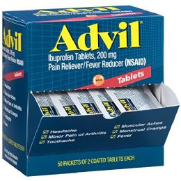 50 Units of Advil Regular 2pk Box - Pain and Allergy Relief