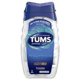 12 Units of Tums 12 Chewable Tablet Peppermint - Pain and Allergy Relief