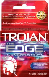 12 Units of Trojan 3's The Edge - Personal Care Items