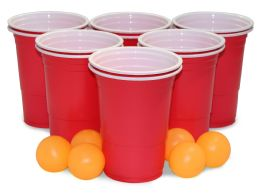 24 Units of BEER PONG SET 18PC - Party Accessory Sets