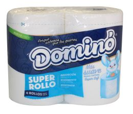 12 Units of Domino Super Roll 4pk 365 Sheets 2ply Extra Soft 4 X 4.5 - Tissues