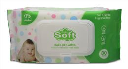 24 Units of Baby Wipe 80 Ct W/white Lids - Baby Beauty & Care Items