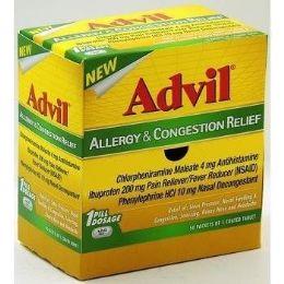 50 Units of Advil Allergy Congestion 1pk Box - Pain and Allergy Relief