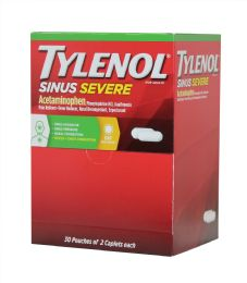 30 Units of Tylenol Sinus 2pk Box 30 ct - Pain and Allergy Relief