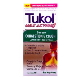 12 Units of Tukol Max Severe Cong Andcough 6oz - Pain and Allergy Relief