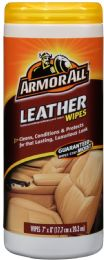 6 Units of Armor All Leather Wipes 25 ct - Store