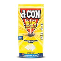 22 Units of D-Con Glue Board 4ct Traps Mice And Insects Water Resistant Board 4.5 X 8.5 - Pest Control