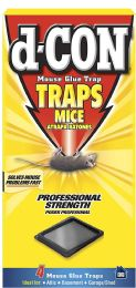 12 Units of D-Con 4 Ct Glue Trap Mice Professional Strength - Pest Control