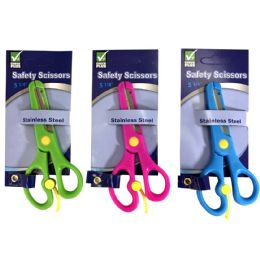 36 Units of Check Plus Safety Scissors 5.25 Astd Colors - Scissors