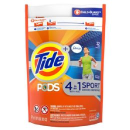 4 Units of Tide 32 Ct Pods 4in1 Sport Active Fresh - Laundry Detergent