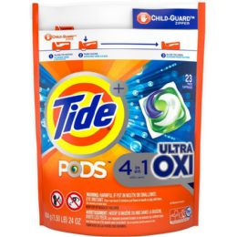 4 Units of TIDE 26 CT PODS ULTRA OXI 4IN1 - Laundry Detergent