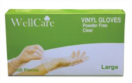 10 Units of VINYL GLOVES 100 CT LARGE POWDER FREE BOXED - Kitchen Gloves