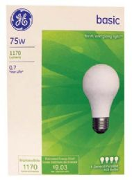 12 Units of Ge Basic Bulb 75w Frost Wht 4pk - Lightbulbs