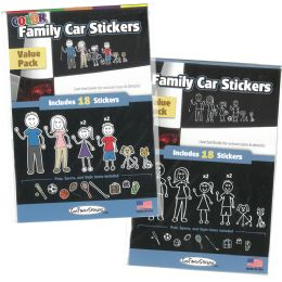 36 Units of Family Car Stickers Astd - Store
