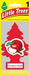 24 Units of LITTLE TREE 1PK CINNAAMON APPLE - Air Fresheners