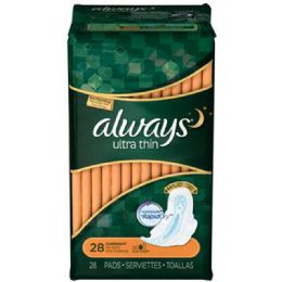 6 Units of Always 28ct Ultra Thin Overnight Unscented - Personal Care Items