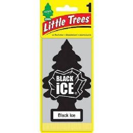 24 Units of LITTLE TREE BLACK ICE CAR FRESHENER 1'S - Air Fresheners