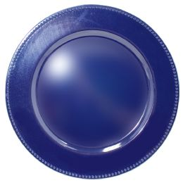 24 Units of CROWN DINNERWARE CHARGER PLATE 13 BLUE - Glassware