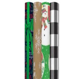 66 Units of CHRISTMAS GIFT WRAP 40 SQ FT 40X12' ASSORTED STYLE #2 - Gift Wrap