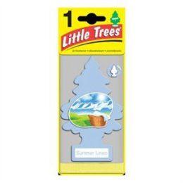 24 Units of LITTLE TREE 1 PK SUMMER LINEN - Air Fresheners