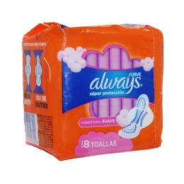 18 Units of Always 8ct Suave Super Protection Max W/wings - Personal Care Items