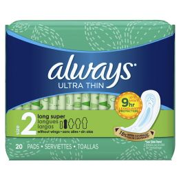 12 Units of Always Ultra Thin Long Super 20 ct - Personal Care Items