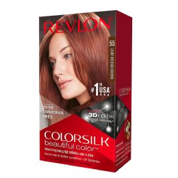 12 Units of Color Silk #55 Light Reddish Brown - Hair Products