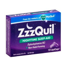 12 Units of Zzzquil Sleep Aid Cap's 12's - Pain and Allergy Relief