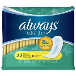 12 Units of Always 22ct Ultra Thin Regular - Personal Care Items