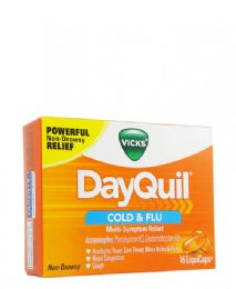12 Units of Dayquil Caps 16's - Pain and Allergy Relief