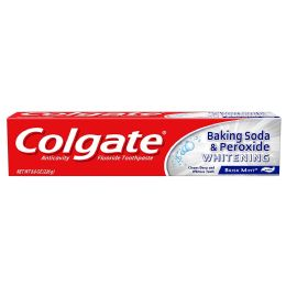 24 Units of COLGATE TOOTHPASTE 8.0 OZ BAKING SODA PEROXIDE WHITENING - Toothbrushes and Toothpaste