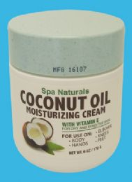 12 Units of Spa Naturals Coconut Oil 6 Ounce Moisturizing Cream Made In Usa - Skin Care