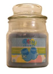 12 Units of CANDLE 3 OUNCE BABY SHOWER BLUE - Candles & Accessories