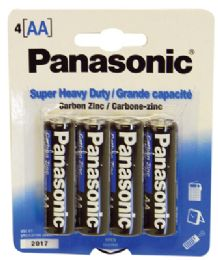 48 Units of PANASONIC BATTERIES SUPER HEAVY DUTY AA 4 PACK - Hardware Products
