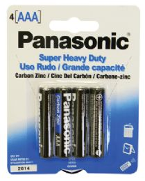 48 Units of PANASONIC AAA 4 PK. BATTERY SUPER HEAVY DUTY - Batteries