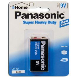 48 Units of PANASONIC BATTERIES SUPER HEAVY DUTY 9 VOLT/1PK - Batteries