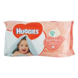 10 Units of HUGGIES BABY WIPES 56 COUNT SOFT SKIN - Baby Beauty & Care Items