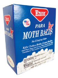 24 Units of Enoz Para Moth Balls 4 oz - Laundry  Supplies